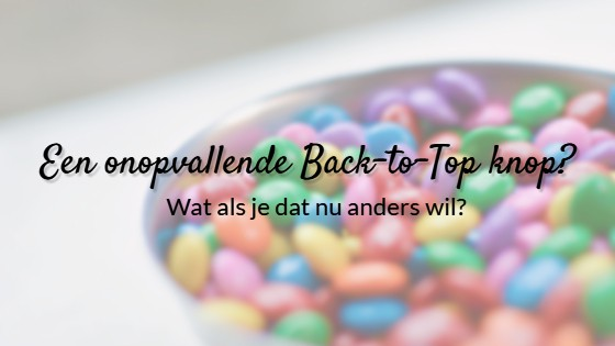 Back to Top knop stijlen in Divi