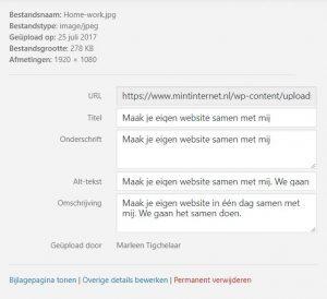 Media uploader en alt tags toevoegen wordpress. Zorg dat je site beter gevonden wordt.
